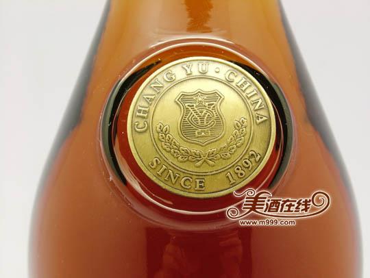 张裕五星金奖白兰地瓶身标记
