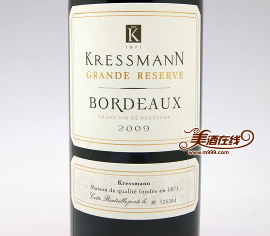 法国科瑞丝曼波尔多珍酿红葡萄酒(750ml)-美酒在线