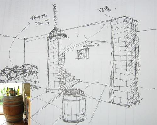 收藏达人展示酒窖设计草图图片
