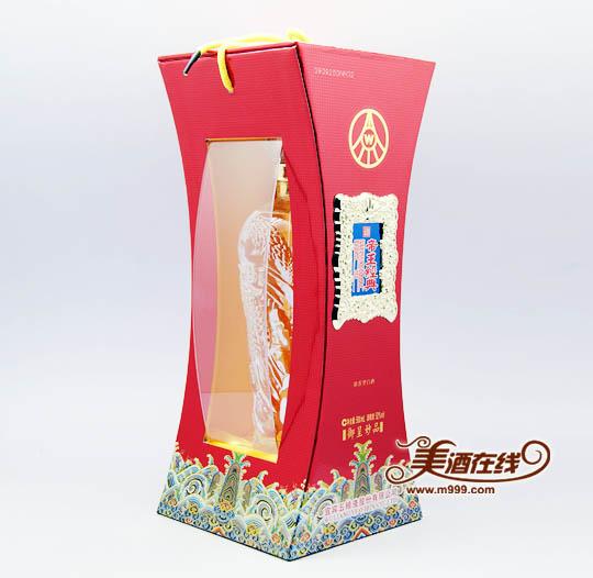 52度五粮液帝王经典妙品(500ml)包装盒侧面图片